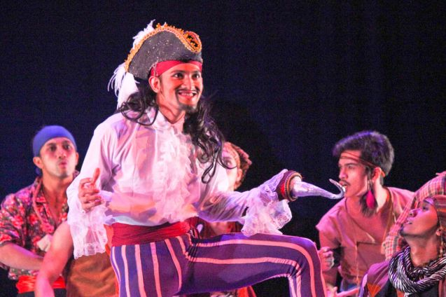 Garry Corpuz (Captain Hook); Ballet Philippines' Peter Pan runs from December 4-13, 2015 at the Tanghalang Nicanor Abelardo of the CCP. Photo by Jude Bautista