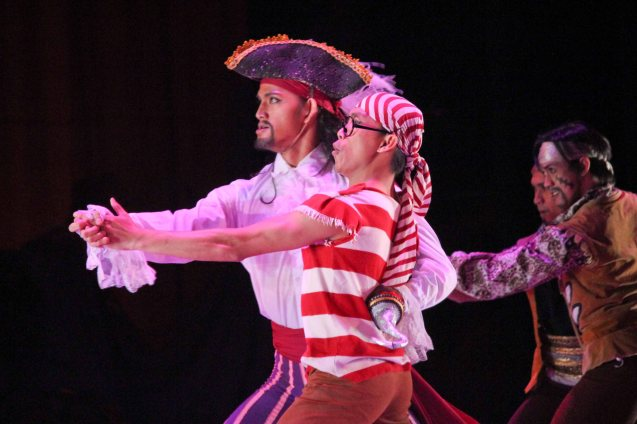 Garry Corpuz (Captain Hook) & Ian Nick Tiba (Smee); Ballet Philippines' Peter Pan runs from December 4-13, 2015 at the Tanghalang Nicanor Abelardo of the CCP. Photo by Jude Bautista