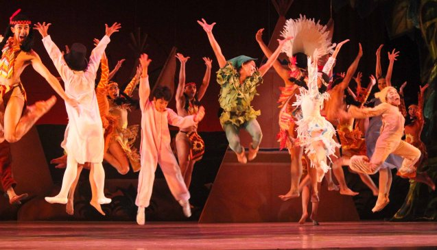 Indians & the Lost Boys- costumes by National Artist for Theater Salvador Bernal; Ballet Philippines' Peter Pan runs from December 4-13, 2015 at the Tanghalang Nicanor Abelardo of the CCP. Photo by Jude Bautista