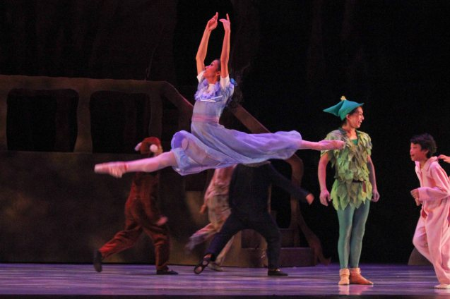 Rita Angela Winder (Wendy); Ballet Philippines' Peter Pan runs from December 4-13, 2015 at the Tanghalang Nicanor Abelardo of the CCP. Photo by Jude Bautista