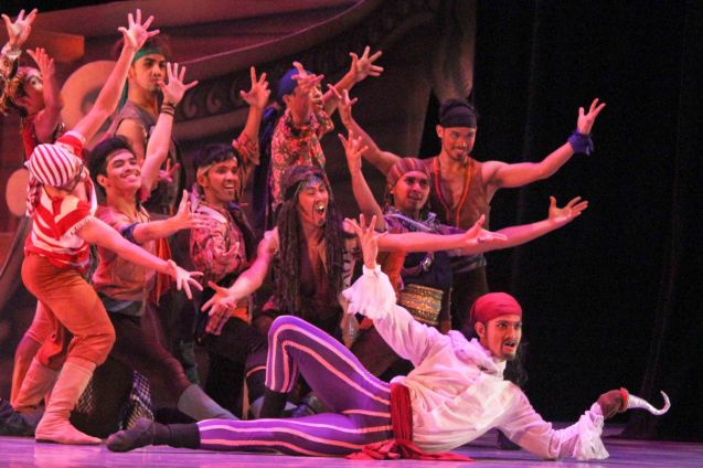 Garry Corpuz (Captain Hook) & The Pirates; Ballet Philippines' Peter Pan runs from December 4-13, 2015 at the Tanghalang Nicanor Abelardo of the CCP. Photo by Jude Bautista