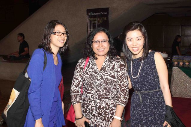 from left: artist Jasmine Cruz, writers Sandy Da Silva and Frida Tan. Ballet Philippines' Peter Pan runs from December 4-13, 2015 at the Tanghalang Nicanor Abelardo of the CCP. Photo by Jude Bautista