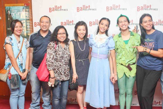 from left: Patricia Ladores, Vincent Nuñez, Sandy Da Silva, Frida Tan, Rita Angela Winder (Wendy), Jean Marc Cordero (Peter Pan) & Mars Callo. Ballet Philippines' Peter Pan runs from December 4-13, 2015 at the Tanghalang Nicanor Abelardo of the CCP. Photo by Jude Bautista