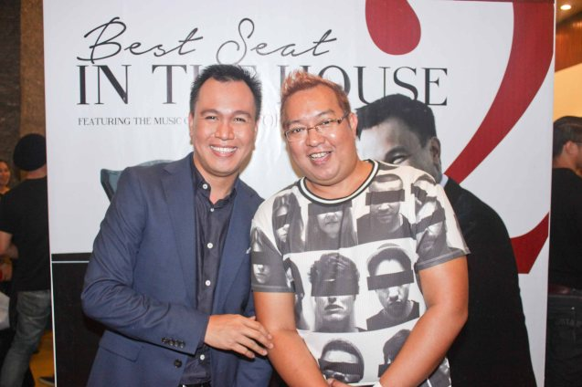from left: Composer Rony Fortich with Lighting Designer John Batalla. Photo is from TRIPLE THREATS SERIES featuring composer Rony Fortich last October 22, 2015 at the CCP's Tanghalang Aurelio Tolentino. Photo by Jude Bautista
