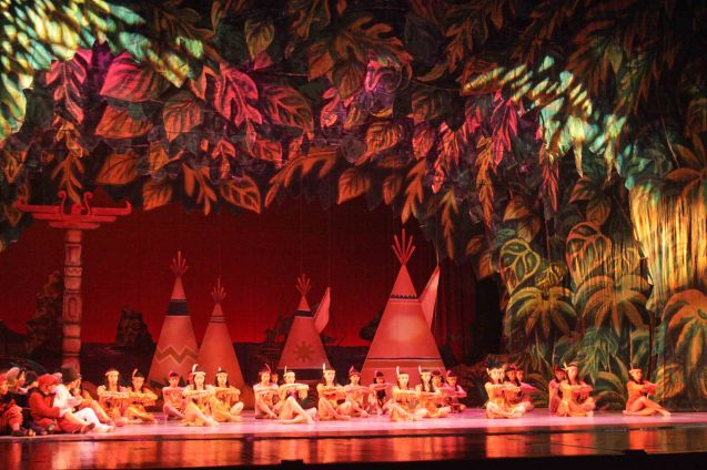 Teepees in Neverland - production design by National Artist for Theater Salvador Bernal. Ballet Philippines' Peter Pan runs from December 4-13, 2015 at the Tanghalang Nicanor Abelardo of the CCP. Photo by Jude Bautista