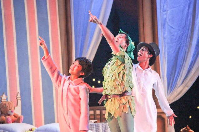 from left: Victor Maguad (Michael), Jean Marc Cordero (Peter) and Daniel Andes (John). Ballet Philippines' Peter Pan runs from December 4-13, 2015 at the Tanghalang Nicanor Abelardo of the CCP. Photo by Jude Bautista
