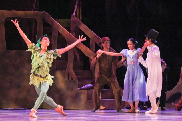 left: Jean Marc Cordero (Peter Pan); Ballet Philippines' Peter Pan runs from December 4-13, 2015 at the Tanghalang Nicanor Abelardo of the CCP. Photo by Jude Bautista