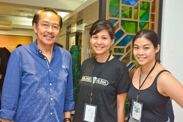 From left: Ramon Orlina with daughters Engr. Ningning Orlina and Tagaytay Art Beat Curator Anna Orlina. The first ever Tagaytay Art Beat was held at Museo Orlina last September 19, 2015. Contributed photo.