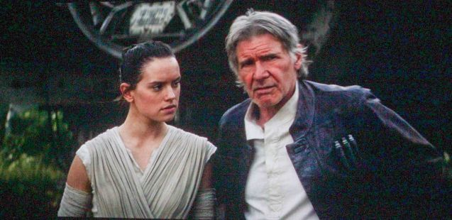 Daisy Ridley (Rey) & Harrison Ford (Han Solo); Catch STAR WARS: THE FORCE AWAKENS in Newport Cinemas-Resort's World Manila, EASTWOOD City Mall, Lucky China Town Mall and Shang Rila Plaza mall.