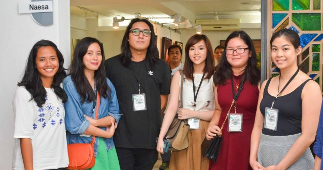Tagaytay Art Beat Exhibiting artists from left: Jessica De Leon, Ayka Go, Archie Geotina, Erica Ng, Tammy Dela Fuente and Exhibit Curator Anna Orlina. The first ever Tagaytay Art Beat was held at Museo Orlina last September 19, 2015. Contributed photo.