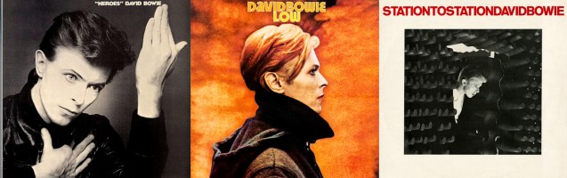 albums from left: Heroes (Oct 1977), Low (Jan 1977), Station to Station (Jan 1976) http://www.davidbowie.com/sound
