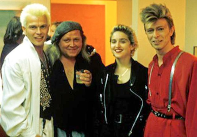 From left: Billy Idol, Sam Kinison, Madonna and David Bowie.