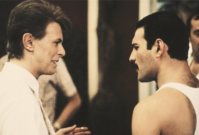 David Bowie wrote the lyrics to UNDER PRESSURE and performed the famous duet with Freddie Mercury back in 1981. It was one of QUEEN's most memorable hits speaking about society's judgment on LGBT.