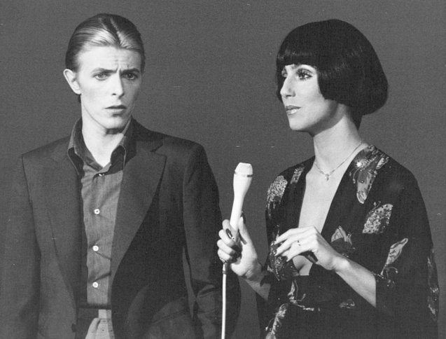 Style icons David Bowie & Cher