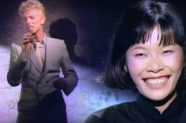 Bowie had a brief affair with Geeling Ching cast in his China Girl music video.