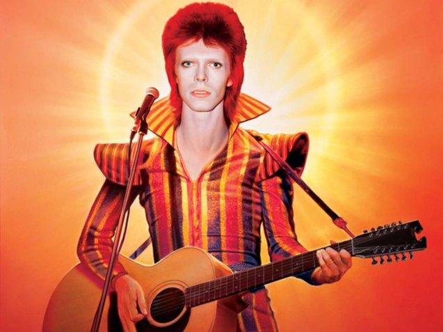 Bowie wears a Freddie Buretti creation