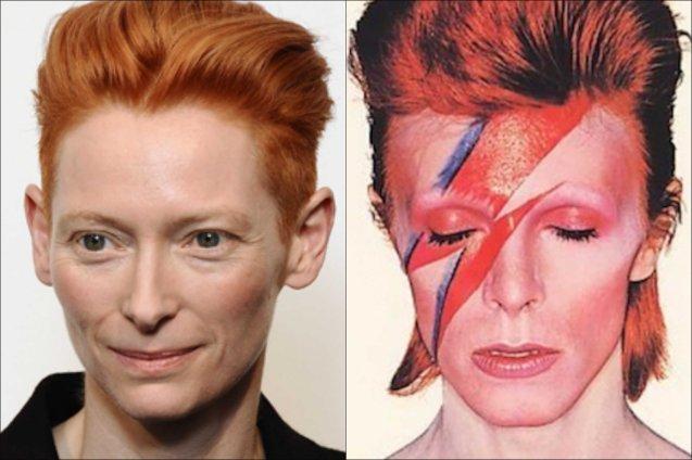 Oscar winner Tilda Swinton idolized David Bowie and touted that they look alike.
