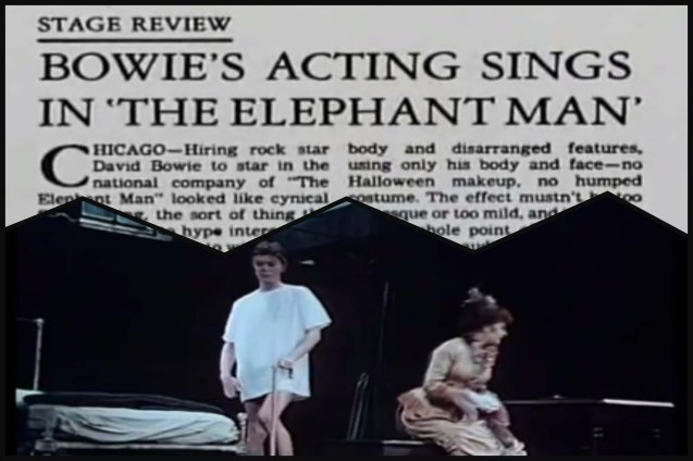 Bowie relied on his slurred speech and disfigured stance to bring Elephant Man to life on stage, which earned raves from critics in 1981.