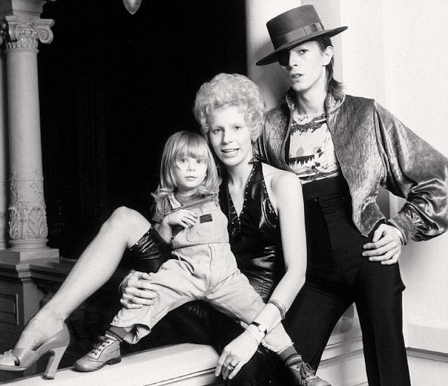 David with first wife Angie Barnett Bowie and son Duncan Jones (1974). Angie encouraged David to wear women's clothing to stand out as a musician.