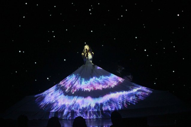 Monica Cuenco (Dorina Pineda)- for the second run her dress was incorporated with the light show in the starry scene. BITUING WALANG NINGNING is running at the Newport Performing Arts Theater, Resorts World Manila until Janury 31, 2016. Photo by Jude Bautista