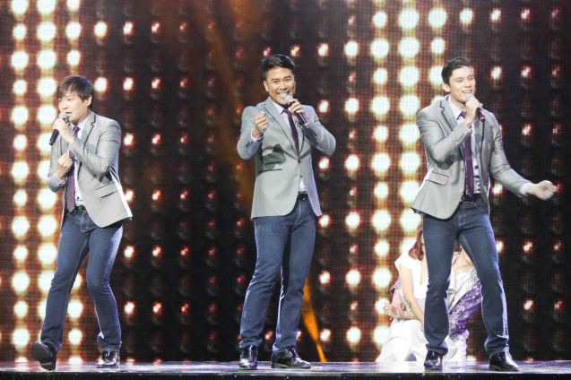 BAR 360 regulars- PRIMO from left: James Uy, Floyd Tena, & Laurence Mossman. BITUING WALANG NINGNING is running at the Newport Performing Arts Theater, Resorts World Manila until January 31, 2016. Photo by Jude Bautista