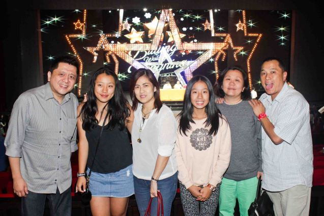 from left: Playboy Philippines publisher Sam Cu, Kimberley Bautista, Mya Cu, Hannah, Hazel & George Bautista. BITUING WALANG NINGNING is running at the Newport Performing Arts Theater, Resorts World Manila until January 31, 2016. Photo by Jude Bautista