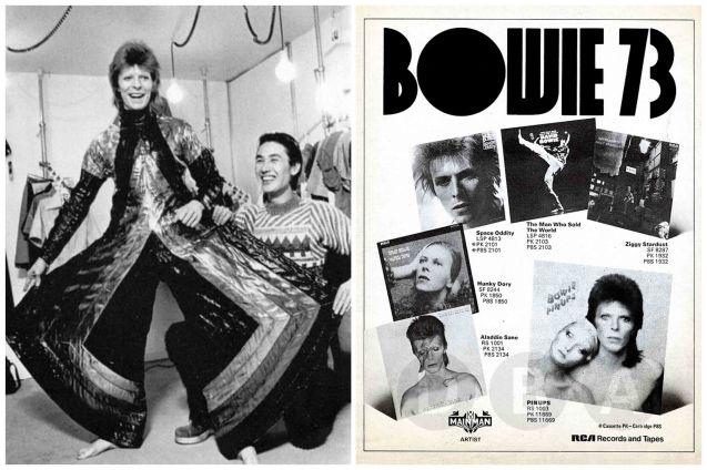 Bowie with Japanese designer Kansai Yamamoto