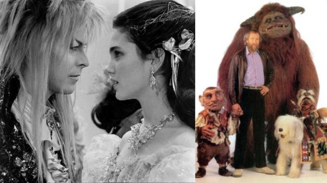 LABYRINTH was (right) Jim Henson's last film before his death. Left: Bowie with a 14-year-old Jennifer Connelly.