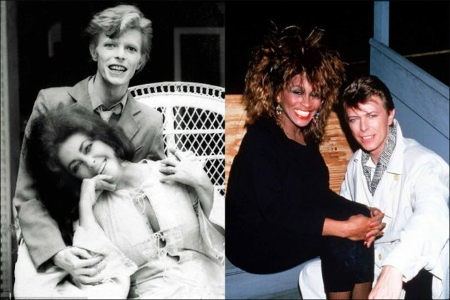 David with (left) Liz Taylor and (right) Tina Turner