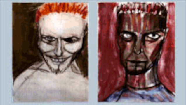 Self Portrait Postcards 1997 A set of four postcards 21 x 15 cms photo from http://www.bowieart.com/