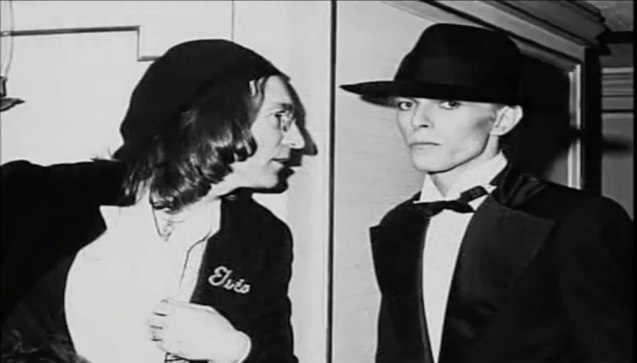 left: John Lennon advised David Bowie to have more control over his finances. Bowie was later devastated when John was shot in 1980.