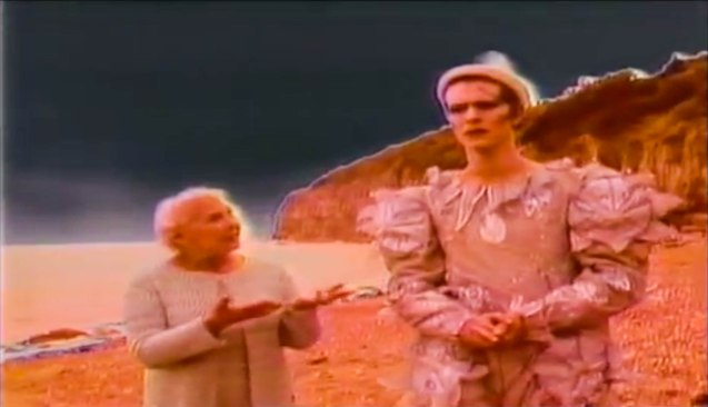 Bowie wore a Natasha Korniloff Pierrot design for his monumental Ashes To Ashes music video.
