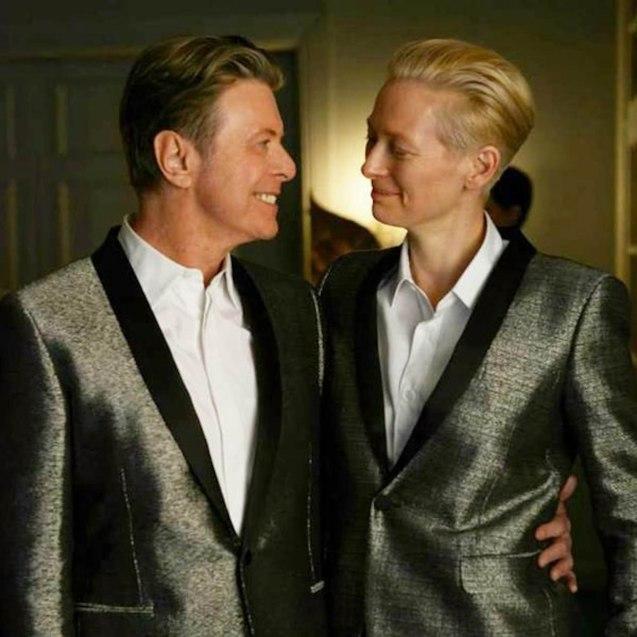 Oscar winner Tilda Swinton idolized David Bowie and touted that they look alike.