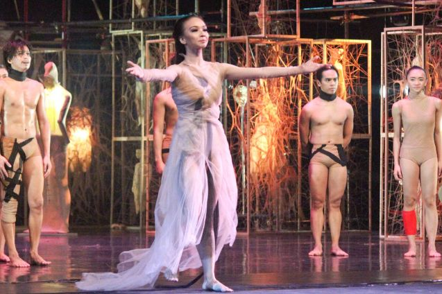 Denise Parungao (Death); BP presents Gabriel Barredo's OPERA choreography by Redha- Feb 13, 14, 16, 2016. Tanghalang Nicanor Abelardo, CCP Main Theater. Photo by Jude Bautista