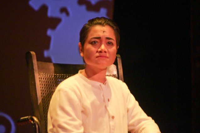 Delphine Buencamino (Apolinario Mabini); TP's MABINING MANDIRIGMA is running from February 19 to March 13, 2016 at the Tanghalang Aurelio Tolentino , CCP with shows at 3pm and 8 pm. Photo by Jude Bautista