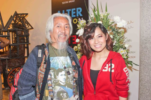 Pinoy Cinema Icon Kidlat Tahimik & Antonette Go (Koro). TP's MABINING MANDIRIGMA is running from February 19 to March 13, 2016 at the Tanghalang Aurelio Tolentino , CCP with shows at 3pm and 8 pm. Photo by Jude Bautista