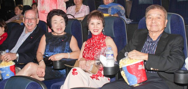 from left: Sandford Friedman, Jill Kuok-Friedman, Dr. Rosita Leong and Ricardo Leong. Watch COMING HOME for free during the 10th Spring Film Festival at the Shang Cineplex, Shang Rila Plaza Mall from January 29-February 7, 2016.  Photo by Jude Bautista