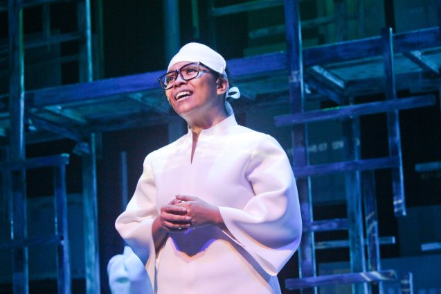Raflesia Bravo (Yaya); Watch 3 STARS & A SUN Musical based on Francis Magallona's Music at the PETA Theater Center from February to March 2016. Photo by Jude Bautista