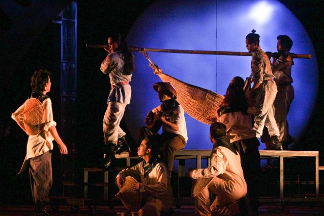 Mabini was famously transported in between battles via hammock. TP's MABINING MANDIRIGMA is running from February 19 to March 13, 2016 at the Tanghalang Aurelio Tolentino , CCP with shows at 3pm and 8 pm. Photo by Jude Bautista