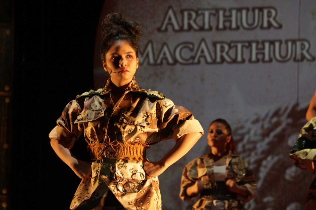 Katreen Dela Cruz (Gen McArthur); TP's MABINING MANDIRIGMA is running from February 19 to March 13, 2016 at the Tanghalang Aurelio Tolentino , CCP with shows at 3pm and 8 pm. Photo by Jude Bautista