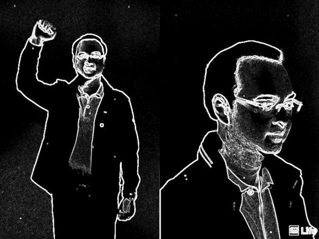 Sen. Alan Peter Cayetano illustration by Jude Bautista
