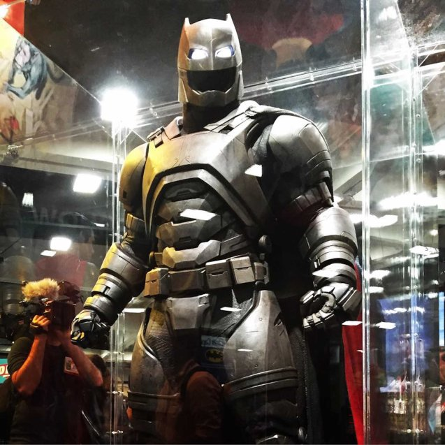 Bat Armor absorbs attacks from Superman. Catch BATMAN VS SUPERMAN DAWN OF JUSTICE in Eastwood City Mall, Lucky Chinatown Mall, Shang Cineplex- Shang Rila Plaza Mall and Newport Cinemas- Resort's World Manila. Photo from official fb page: https://www.facebook.com/batmanvsuperman/photos