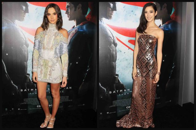from left: Gal Gadot (Wonder Woman) & Tao Okamoto (Mercy Graves). Catch BATMAN VS SUPERMAN DAWN OF JUSTICE in Eastwood City Mall, Lucky Chinatown Mall, Shang Cineplex- Shang Rila Plaza Mall and Newport Cinemas- Resort's World Manila.
