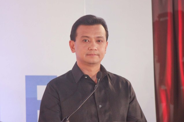 Sen. Sonny Trillanes during the Go Negosyo Talks: Meet the Vice Presidentiables at the Manila Polo Club last March 14, 2016. Photo by Jude Thaddeus Bautista