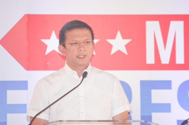 Sen. Chiz Escudero during the Go Negosyo Talks: Meet the Vice Presidentiables at the Manila Polo Club last March 14, 2016. Photo by Jude Thaddeus Bautista