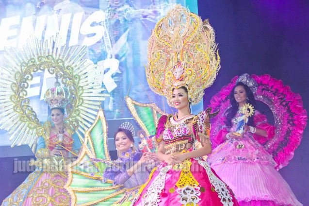 from left: #13 Cynthia Thomalla-SINULOG FESTIVAL, #10 Lou Dominique Piczon-MANARAGAT FESTIVAL, #2 Angelica Gabriel-DAYANG DAYANG FESTIVAL and #12 May Anne Reyes-CANDLE FESTIVAL. ALIWAN held last April 14-16, 2016, is the Grand Festival of Champions showing the best of Philippine Fiestas from around the country. There are three main activities: Reyna Ng Aliwan Pageant, Street Dance and Float Competition.  It culminates in a grand parade from Quirino Grandstand going through Roxas Blvd to the Aliw Theater grounds in CCP. Photo By Jude Bautista