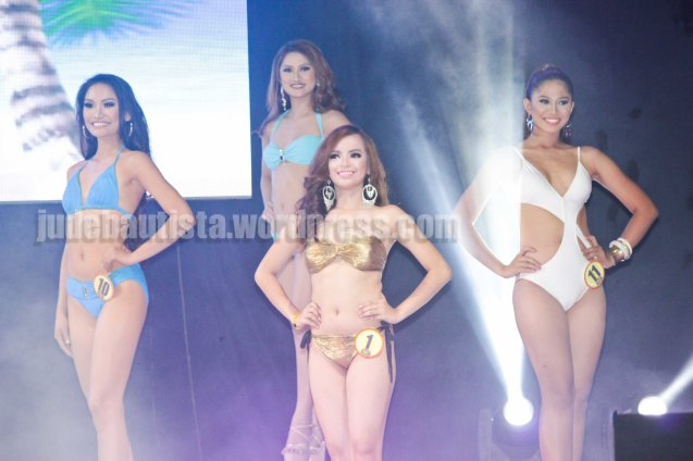 from left: #10 Lou Dominique Piczon-MANARAGAT FESTIVAL, #16 Darlene Joy Tabuga-PINTADOS DE PASSI FESTIVAL, #1 Rechelyn Dionico- BOLING BOLING FESTIVAL and #11 Reasal Ann Halagna-ZAMBOANGA HERMOSA FESTIVAL. ALIWAN held last April 14-16, 2016, is the Grand Festival of Champions showing the best of Philippine Fiestas from around the country. There are three main activities: Reyna Ng Aliwan Pageant, Street Dance and Float Competition.  It culminates in a grand parade from Quirino Grandstand going through Roxas Blvd to the Aliw Theater grounds in CCP. Photo By Jude Bautista