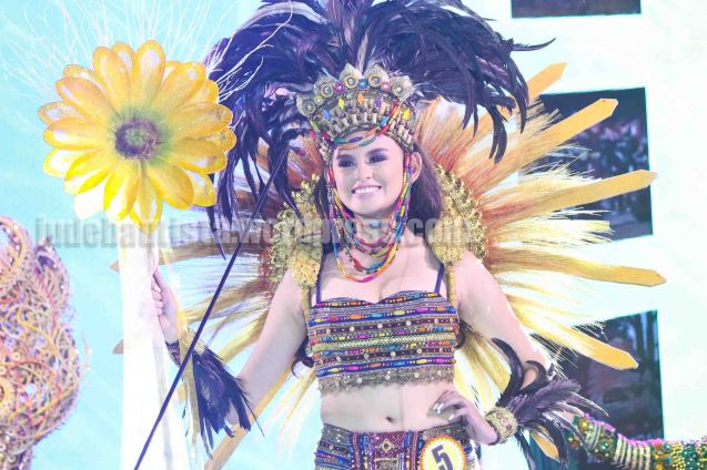 #5 Andrea Fe Gomez-PANAGBENGA FESTIVAL is 1st Runner-up and Miss Unique Smile. ALIWAN held last April 14-16, 2016, is the Grand Festival of Champions showing the best of Philippine Fiestas from around the country. There are three main activities: Reyna Ng Aliwan Pageant, Street Dance and Float Competition.  It culminates in a grand parade from Quirino Grandstand going through Roxas Blvd to the Aliw Theater grounds in CCP. Photo By Jude Bautista