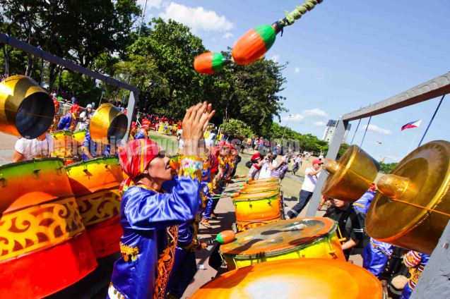 #2 Meguyaya Festival of Upi, Maguindanao Represented by Dr. Bernabe G. Dela Fuente Senior National High School. ALIWAN held last April 14-16, 2016, is the Grand Festival of Champions showing the best of Philippine Fiestas from around the country. There are three main activities: Reyna Ng Aliwan Pageant, Street Dance and Float Competition.  It culminates in a grand parade from Quirino Grandstand going through Roxas Blvd to the Aliw Theater grounds in CCP. Photo By Jude Bautista