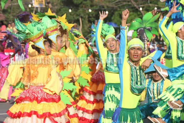 #1 Niyogyugan Festival of Quezon Province Represented by Hambujan Dancers of Dolores, Quezon garnered 5th Place (P100,000). ALIWAN held last April 14-16, 2016, is the Grand Festival of Champions showing the best of Philippine Fiestas from around the country. There are three main activities: Reyna Ng Aliwan Pageant, Street Dance and Float Competition.  It culminates in a grand parade from Quirino Grandstand going through Roxas Blvd to the Aliw Theater grounds in CCP. Photo By Jude Bautista